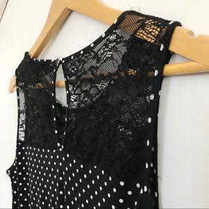⚡️SALE!⚡️Forever 21 Lace Polka Dot Dress Size M